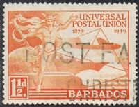Barbados SG267 1949 75th Anniversary of UPU 1½d good/fine used